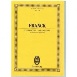 Franck, César. Variaciones Sinfónicas Para Piano y Orquesta (Partitura de Bolsillo)