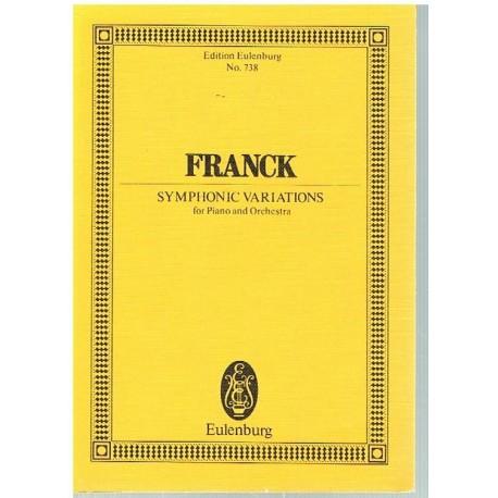 Franck, César. Variaciones Sinfónicas Para Piano y Orquesta (Full Score Bolsillo). Eulenburg