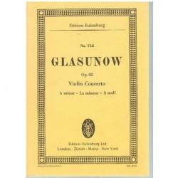 Glasunow. Concierto Para Violin Op.82 La menor (Partitura de Bolsillo)