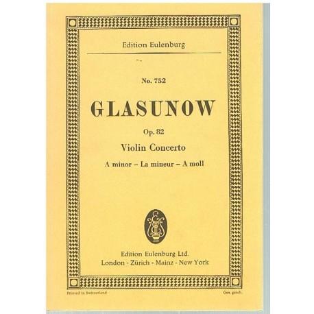 Glasunow. Concierto Para Violin Op.82 La menor (Full Score Bolsillo)