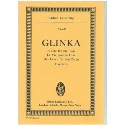 Glinka. A Life For The Tsar. Obertura (Partitura de Bolsillo)