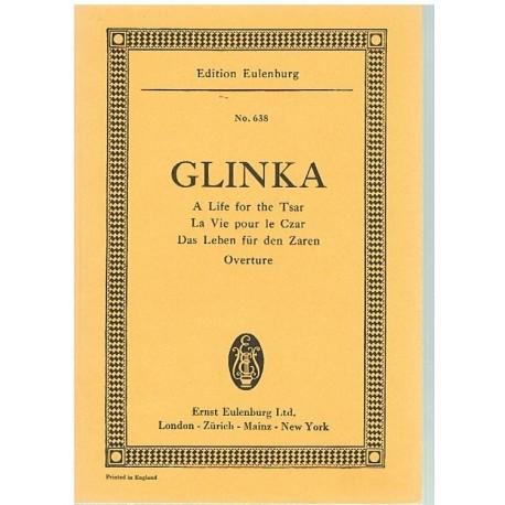 Glinka. A Life For The Tsar. Obertura (Full Score Bolsillo). Eulenburg