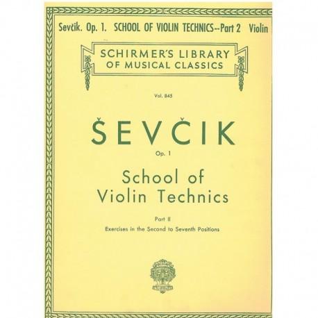 Sevcik. Escuela de la Técnica del Violín Op.1 Parte 2