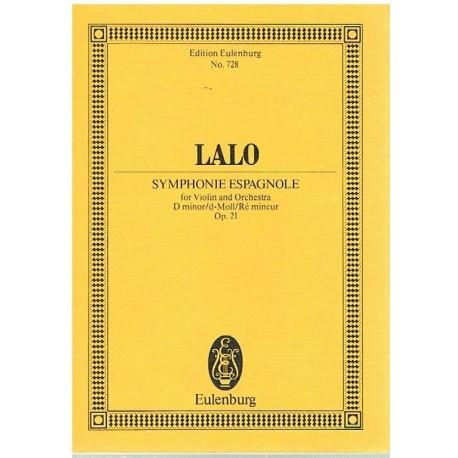 Lalo. Sinfonía Española Op.21 (Violin y Orquesta) (Partitura de Bolsillo)