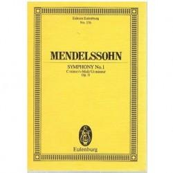 Mendelssohn Sinfonía Nº1 en Do menor Op.11 (Partitura de Bolsillo)