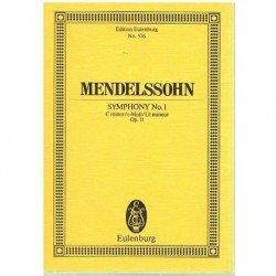 Mendelssohn. Sinfonía Nº1 en Do Menor Op.11 (Full Score Bolsillo)