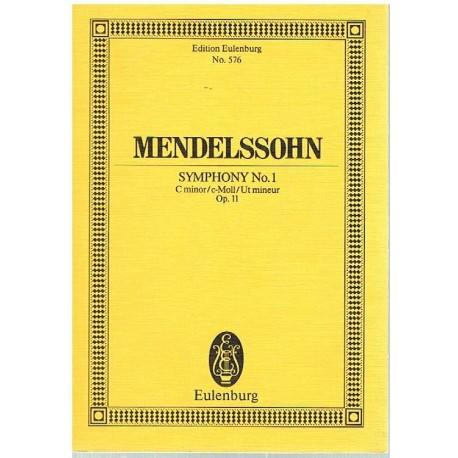 Mendelssohn. Sinfonía Nº1 en Do Menor Op.11 (Full Score Bolsillo). Eulenburg