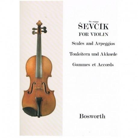 Sevcik. Escalas y Arpegios Para Violin