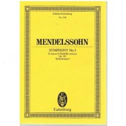 """Mendelssohn Sinfonía Nº5 en Re menor Op.107 Reformation (Partitura de Bols"""""""""""