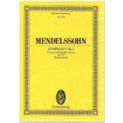 """Mendelssohn. Sinfonía Nº5 en Re menor Op.107 """"Reformation"""" (Partitura de Bolsillo)"""