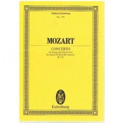 Mozart. Concierto para Trompa y Orquesta en Re Mayor K.412 (Partitura de Bolsillo)