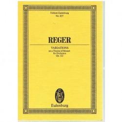 Reger Variaciones Sobre un Tema de Mozart Op.132 (Partitura de Bolsill