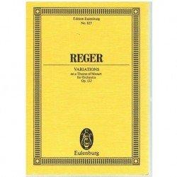 Reger, Max. Variaciones Sobre un Tema de Mozart Op.132 (Partitura de Bolsillo)