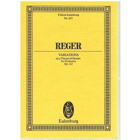 Reger, Max. Variaciones Sobre un Tema de Mozart Op.132 (Full Score Bolsillo). Eulenburg