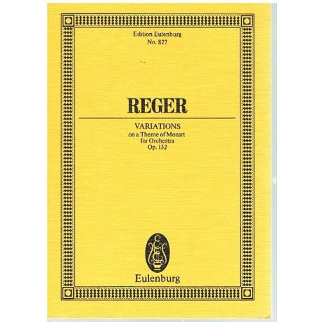 Reger, Max. Variaciones Sobre un Tema de Mozart Op.132 (Full Score Bolsillo)