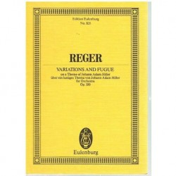Reger Variaciones y Fuga Op.100 (Partitura de Bolsillo)