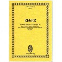 Reger, Max. Variaciones y Fuga Sobre un Tema de Adam Hiller Op.100 (Full Score Bolsillo)