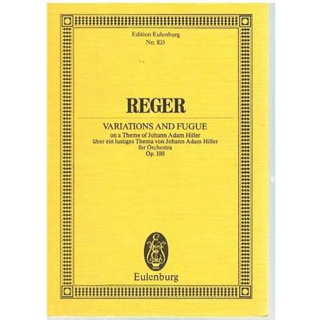 Reger, Max. Variaciones y Fuga Sobre un Tema de Adam Hiller Op.100 (Partitura de Bolsillo)