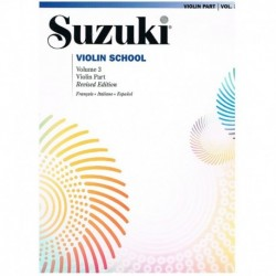 Suzuki Violin School Vol.3 (Violin Part) Revised Edition