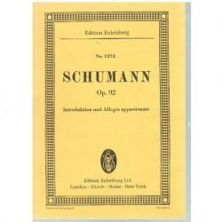 Schumann Introducción y Allegro Apasionado Op.92 (Partitura de Bolsillo)