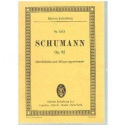 Schumann. Introducción y Allegro Apasionado Op.92 (Partitura de Bolsillo)