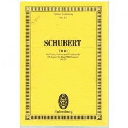 Schubert, Fr Trío en Mib Mayor para Piano, Violin y Cello (Partitura de Bolsi