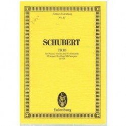 Schubert, Franz. Trío en Mib Mayor para Piano, Violin y Cello (Partitura de Bolsillo)