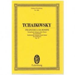 Tchaikovsky. Francesca Da Rimini Op.32 (Partitura de Bolsillo)