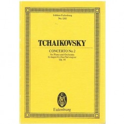 Tchaikovsky. Concierto Nº2 Sol Mayor Op.44 (Partitura de Bolsillo)