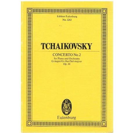 Tchaikovsky. Concierto Nº2 Sol Mayor Op.44 (Full Score Bolsillo). Eulenburg