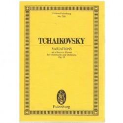 Tchaikovsky. Variaciones Sobre un Tema Rococo Op.33 (Partitura de Bolsillo)
