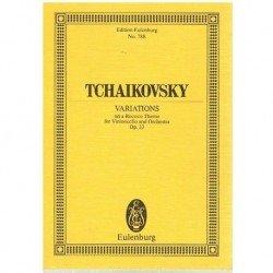 Tchaikovsky. Variaciones Sobre un Tema Rococo Op.33 (Full Score Bolsillo)