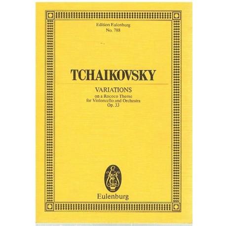 Tchaikovsky. Variaciones Sobre un Tema Rococo Op.33 (Full Score Bolsillo). Eulenburg