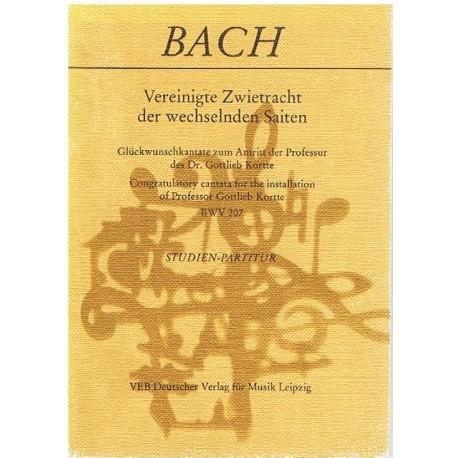 Bach, J.S. Cantata BWV 207 (Full Score Bolsillo). VEB Deutscher Verlag