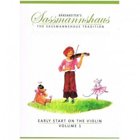 Sassmannshaus. Early Start on the Violin Vol.1. Barenreiter
