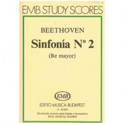 Beethoven Sinfonía Nº2 Re Mayor (Partitura de Bolsillo)