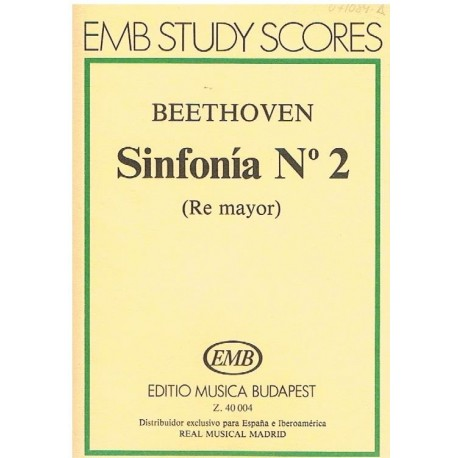 Beethoven. Sinfonía Nº2 Re Mayor (Full Score Bolsillo). Editio Musica Budapest