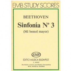 Beethoven Sinfonía Nº3 MIb Mayor (Partitura de Bolsillo)