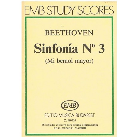 Beethoven. Sinfonía Nº3 MIb Mayor (Full Score Bolsillo)