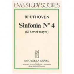 Beethoven Sinfonía Nº4 Sib Mayor Op.60 (Partitura de Bolsillo)