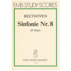 Beethoven Sinfonía Nº8 Fa Mayor (Partitura de Bolsillo)