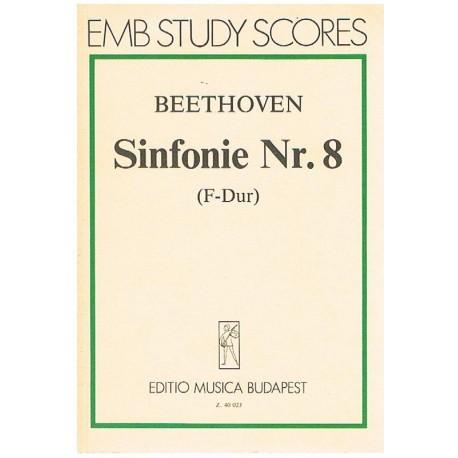 Beethoven. Sinfonía Nº8 Fa Mayor (Full Score Bolsillo). Editio Musica Budapest