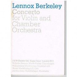 Berkeley, Lennox. Concierto Para Violín y Orquesta de Cámara (Partitura de Bolsillo)