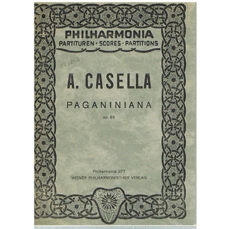 Casella, Alfredo. Paganiniana Op.65 (Full Score Bolsillo). Philarmonia