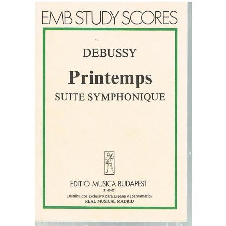 Debussy, Claude. Printemps. Suite Symphonique (Full Score Bolsillo). Editio Musica Budapest