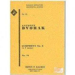 Dvorak. Sinfonía Nº5 en Fa Mayor Op.76 (Full Score Bolsillo)