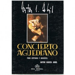 García Abril Concierto Aguediano. Guitarra y Orquesta (Partitura de Bolsillo)