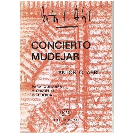 García Abril Concierto Mudéjar. Guitarra y Orquesta de Cuerda (Partitura de B
