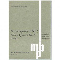 Glasunow. Cuarteto de Cuerda Nº5 Op.70 (Partitura de Bolsillo)