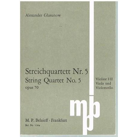 Glasunow. Cuarteto de Cuerda Nº5 Op.70 (Full Score Bolsillo)